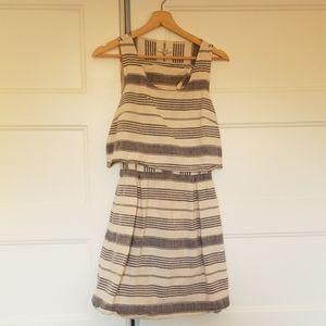 Madewell striped overlay dress